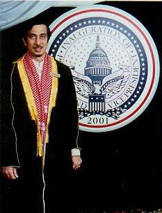 His Eminency In Front of White House