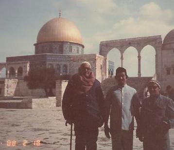 His Eminency Dr. Alam, Re-opened the Door of The Holy Mosque Al-Aqsa in Jerusalem Feb 1988